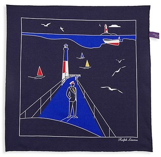Ralph Lauren Purple Label Conversational Silk Pocket Square