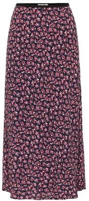 Diane von Furstenberg Mae floral crApe midi skirt