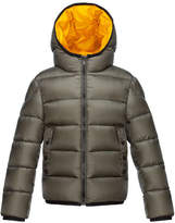 Moncler Serge Hooded Puffer Coat, Olive, Size 8-14