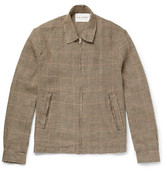Our Legacy Houndstooth Linen-Tweed Blouson Jacket