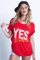 Local Celebrity Yes, It's Really Me Schiffer Tee in Red