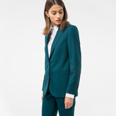 Paul Smith A Suit To Travel In - Women's Dark Green Two-Button Wool Blazer
