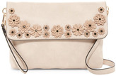 Urban Expressions Floral Flap Vegan Leather Convertible Clutch