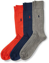 Polo Ralph Lauren Ribbed Crew Sock 3-Pack