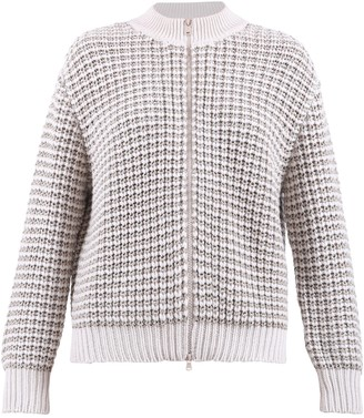 Brunello Cucinelli Waffle Knitted Zipped Cardigan
