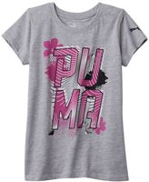 Puma Girls 7-16 Floral Glitter Graphic Tee