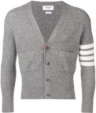 Thom Browne Baby Cable Short Cashmere Cardigan