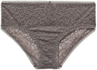 Eres Baci Bellezza Stretch-corded Lace Mid-rise Briefs