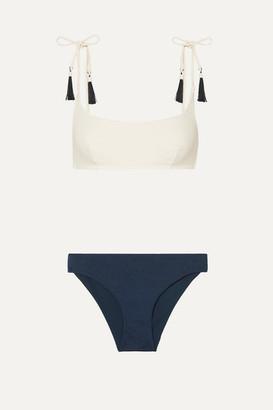 Emma Pake Aurora & Fia Tasseled Bikini - White