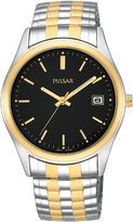 Pulsar Mens Two-Tone Expansion Watch PXH428