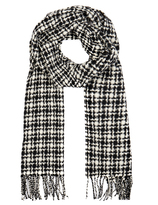 Johnstons of Elgin Monochrome Merino Wool and Cashmere-Blend Scarf