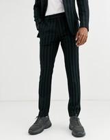 Asos Design DESIGN skinny suit pants in tonal stripe