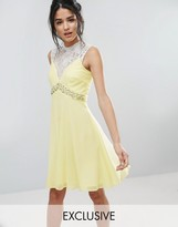 Elise Ryan Sweetheart Skater Dress With Embellished Waist