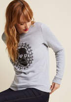 F8022J You're forever greeting the world with hearts in your eyes, as expressed by the skull screen print of this grey pullover! A love-spreading ModCloth exclusive featuring geometric flair, this lightweight sweatshirt is a warm and welcoming wear.