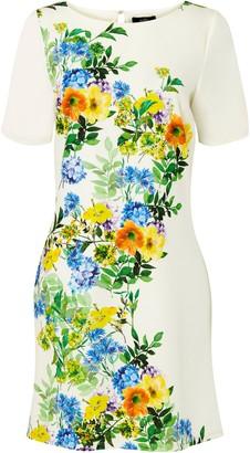 Wallis White Abstract Floral Print Shift Dress