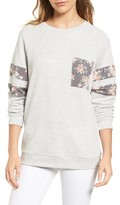 Women's Caslon Print Detail Pocket Sweatshirt