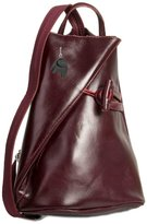 Big Handbag Shop Womens Genuine Italian Leather Convertible Strap Backpack Bag