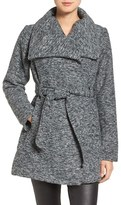 Steve Madden Women's Belted Waffle Woven Coat