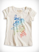 GUESS Little Girl Embellished Ombre-Graphic Tee (2-6x)