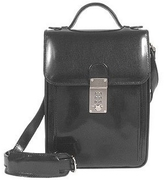 L.a.p.a. Black Leather Vertical Briefcase