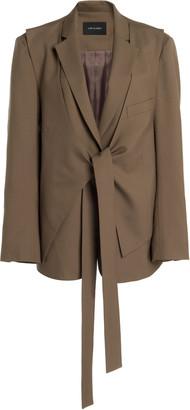 Low Classic Layered Wool Wrap Blazer