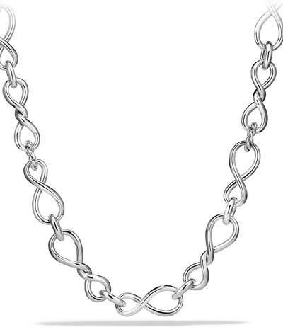 David Yurman Continuance Sterling Silver Twisted Link Necklace