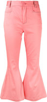 L'Autre Chose flared cropped trousers - women - Cotton/Spandex/Elastane - 40