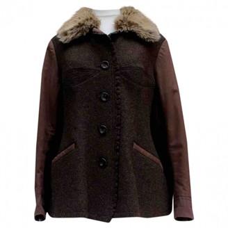 Issey Miyake Brown Wool Coat for Women Vintage