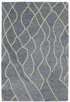 Peaks Hand-tufted Utopia Blue Wool Rug (8' x 11')