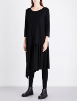Y's Ys Asymmetric-hem relaxed-fit wool-blend dress