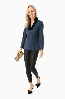 Sail to Sable Navy Plaid Tunic Top
