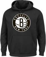 Majestic Men's Brooklyn Nets Tek Patch Hoodie