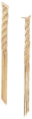 Lana Liquid 14K Gold Braided Linear Fringe Earrings