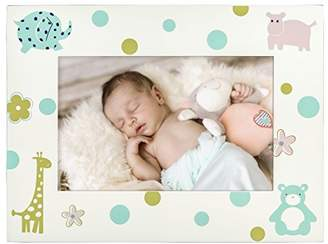Hama Velour Baby and Child Picture Frame for Photo Size 10 x 15 cm Wooden Photo Frame, for Table Top or Wall Hang, – White