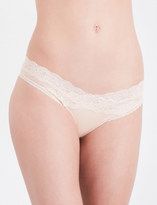Passionata Brooklyn tulle and floral-lace tanga briefs
