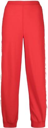 Stella McCartney Logo-Stripe Wool Track Pants