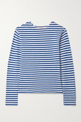 Denimist Striped Cotton-pique Top