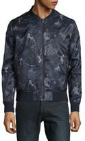 Calvin Klein Floral Surprlus Printed Zip-Up Jacket