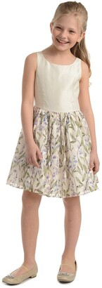 Badgley Mischka Sleeveless Printed Lace Skirt Dress