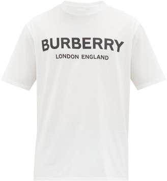 Burberry Letchford Logo-printed Cotton T-shirt - White