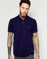 Pretty Green Polo Shirt With Logo In Navy