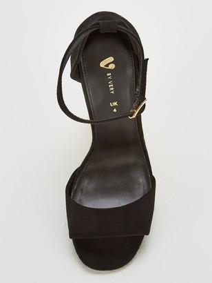 Very Bessie Strap Block Heel Sandal Shoes