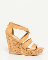 Le Château Leather-Like Strappy Wedge