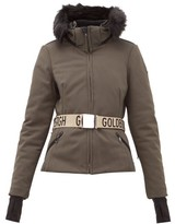 Goldbergh - Hida Faux Fur Hooded Technical Ski Jacket - Womens - Khaki