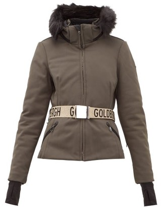 Goldbergh Hida Faux Fur Hooded Technical Ski Jacket - Khaki