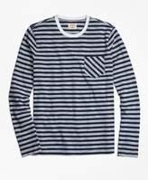 Brooks Brothers Long-Sleeve Sailor Stripe Tee Shirt