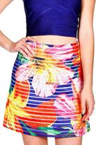 Wow Couture Tropical Fit & Flare Skirt