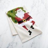 Crate & Barrel Santa Dish Towel