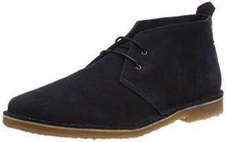 Jack and Jones Men's Jfwgobi Suede Desert Boots, Blue Navy Blazer