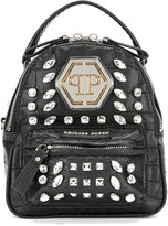 Philipp Plein embellished rhinestone mini backpack